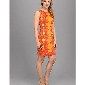 Nine West Orange Sheath Dress